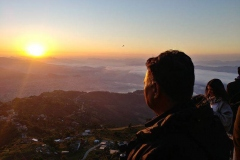 Sunrise view from Pokhara