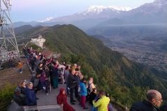 Viewing Sunrise in Pokhara